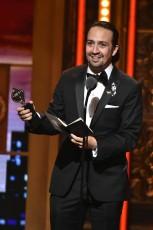 Lin Manuel-Miranda gives acceptance speech at 2016 Tony Awards