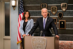 Joe Biden with Mariska Hargitay