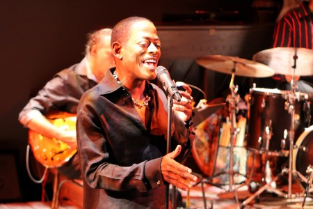 T.C. Carson sings