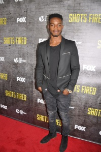Shots Fired star Stephan James on red carpet at Newseum